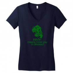 rawr means i love you in dinosaur Women's V-Neck T-Shirt   Artistshot