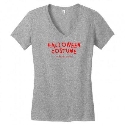 Halloween Costume; I'm Broke Women's V-neck T-shirt Designed By Secreet