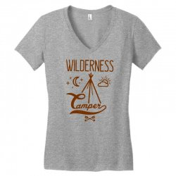wilderness camper Women's V-Neck T-Shirt | Artistshot