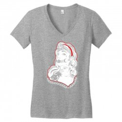 Sugar Skull Women White Women's V-Neck T-Shirt | Artistshot