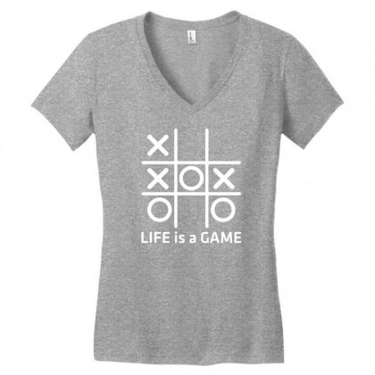 Life Is A Game Women's V-neck T-shirt Designed By Specstore