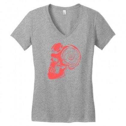 Hellskull Women's V-neck T-shirt Designed By Specstore