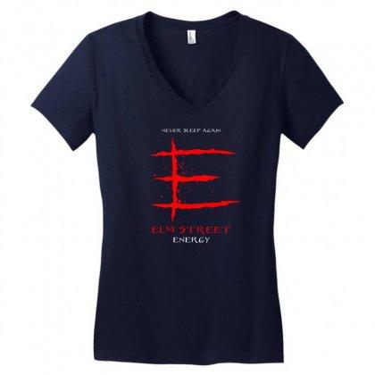 Elm Street Energy Women's V-neck T-shirt Designed By Specstore
