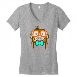 geek monkey Women's V-Neck T-Shirt | Artistshot