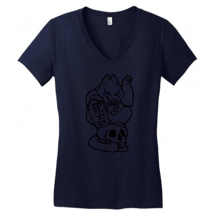 Dead Lucky Women's V-neck T-shirt Designed By Specstore
