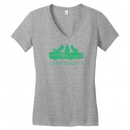 Camp Takota Women's V-neck T-shirt Designed By Specstore