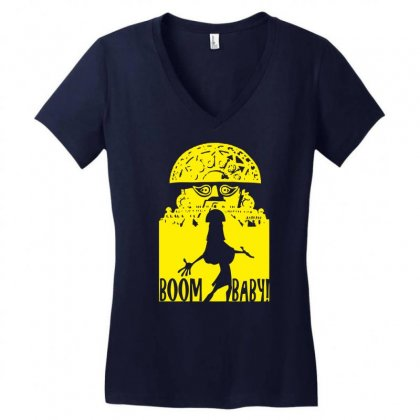 Boom Baby Women's V-neck T-shirt Designed By Specstore