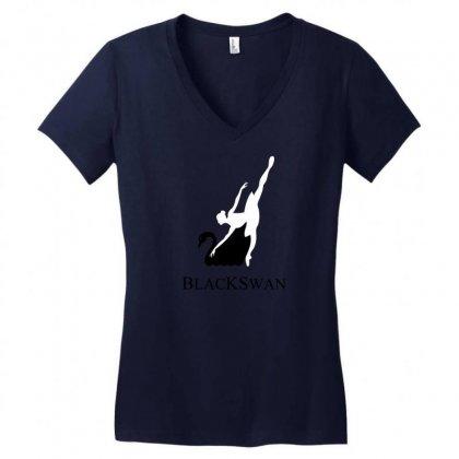 Black Swan Women's V-neck T-shirt Designed By Specstore
