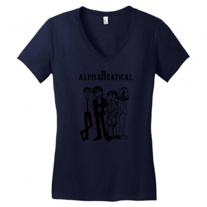 Alphabeatical Women's V-neck T-shirt Designed By Specstore