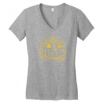 Little Pumpkin Women's V-neck T-shirt Designed By Specstore