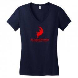 ScreamWorks Women's V-Neck T-Shirt   Artistshot
