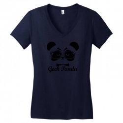 Geek Panda Women's V-Neck T-Shirt | Artistshot