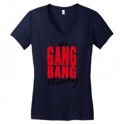 the gang bang theory Women's V-Neck T-Shirt | Artistshot