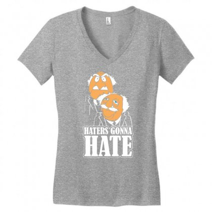 Haters Gonna Hate Women's V-neck T-shirt Designed By Chilistore