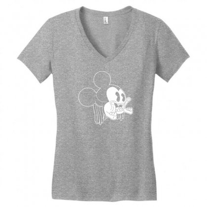 Icky Mouse Women's V-neck T-shirt Designed By Specstore