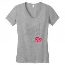 screaming wolf love you Women's V-Neck T-Shirt | Artistshot