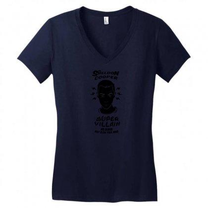 Super Villain Women's V-neck T-shirt Designed By Specstore