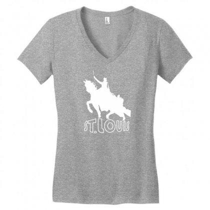 Saint Louis Women's V-neck T-shirt Designed By Specstore