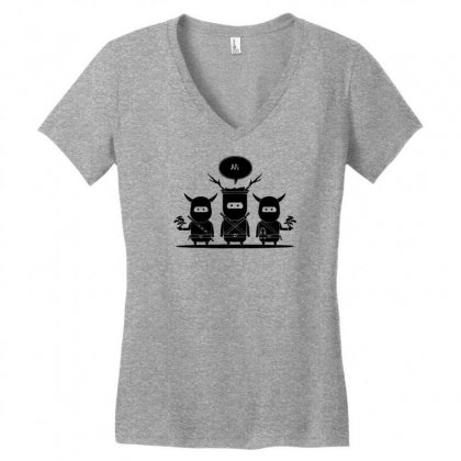 Ni Ni Ninjas Women's V-neck T-shirt Designed By Specstore