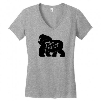 Gorilla The Beast Women's V-neck T-shirt Designed By Specstore
