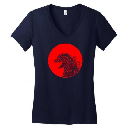 Big In Japan Women's V-neck T-shirt Designed By Specstore