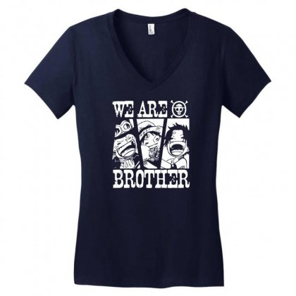 We Are Brother Women's V-neck T-shirt Designed By Specstore