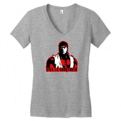 Viva A Shoryuken Women's V-neck T-shirt Designed By Specstore