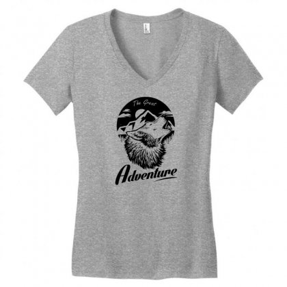 The Great Adventure Women's V-neck T-shirt Designed By Specstore