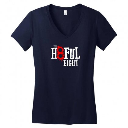 Hate The Eight Women's V-neck T-shirt Designed By Chilistore