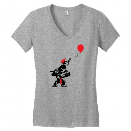 Balloon Apes Women's V-neck T-shirt Designed By Chilistore