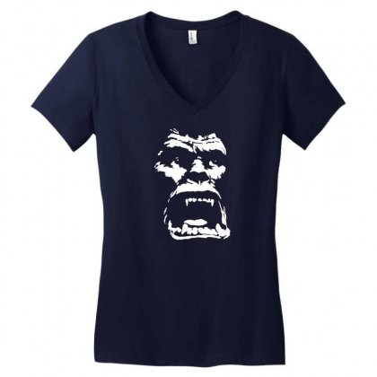 King Of The Apes Women's V-neck T-shirt Designed By Specstore