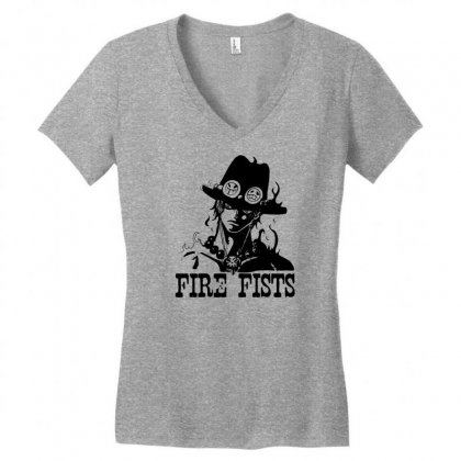 Fire Fists Ace Women's V-neck T-shirt Designed By Specstore