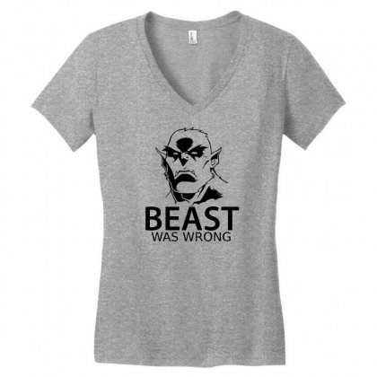 Beast Was Wrong Women's V-neck T-shirt Designed By Specstore