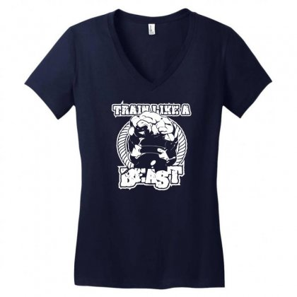 Beast Gym Women's V-neck T-shirt Designed By Specstore