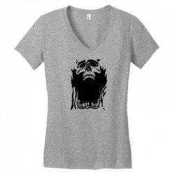Screaming skull Women's V-Neck T-Shirt   Artistshot
