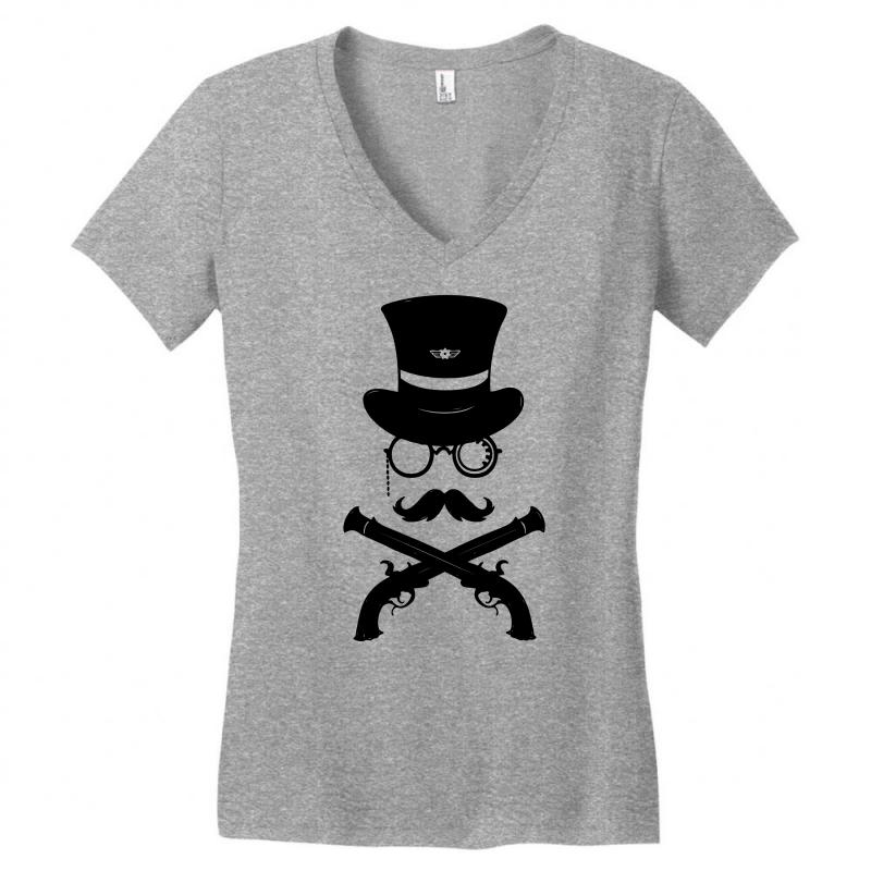 Cross Muskets Women's V-neck T-shirt   Artistshot