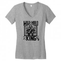 Wild World King Women's V-Neck T-Shirt | Artistshot