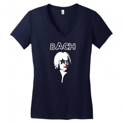 Bach Women's V-neck T-shirt Designed By Specstore