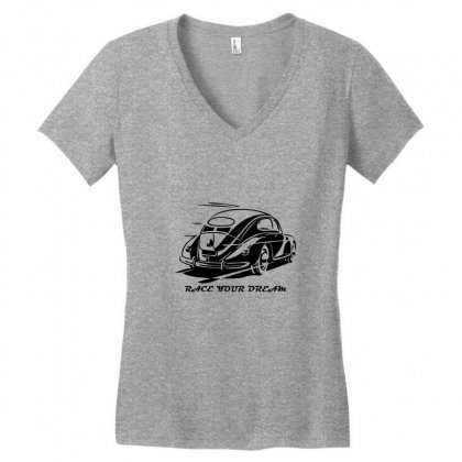 Race Your Dream Women's V-neck T-shirt Designed By Specstore