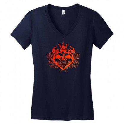 King Of Spades Women's V-neck T-shirt Designed By Specstore