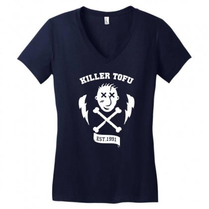 Killer Tofu Women's V-neck T-shirt Designed By Specstore