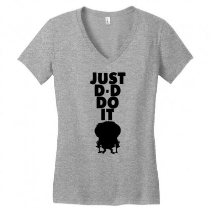Just Dddo It Women's V-neck T-shirt Designed By Specstore
