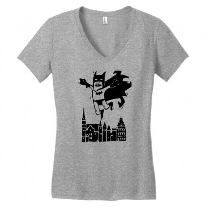 Got A Night Heroes Women's V-neck T-shirt Designed By Specstore