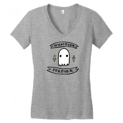 Ghosts N Daggers Women's V-neck T-shirt Designed By Specstore