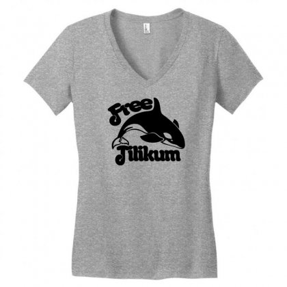 Free Tilikum Women's V-neck T-shirt Designed By Specstore