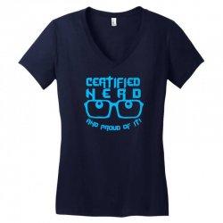 Certified Nerd Women's V-Neck T-Shirt   Artistshot