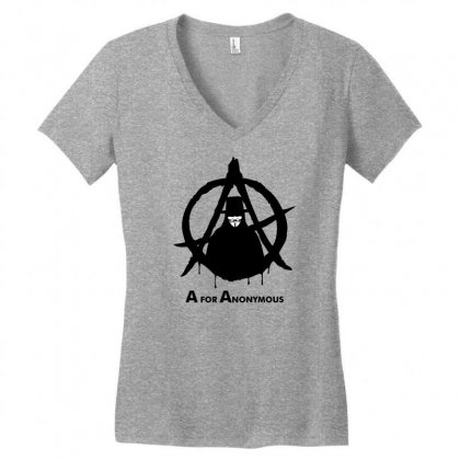 A For Anonymous Women's V-neck T-shirt Designed By Specstore