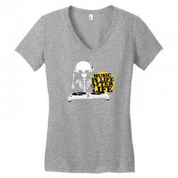 music is life Women's V-Neck T-Shirt   Artistshot