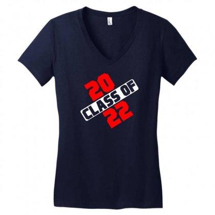 Class Of 2022 Women's V-neck T-shirt Designed By Designbycommodus