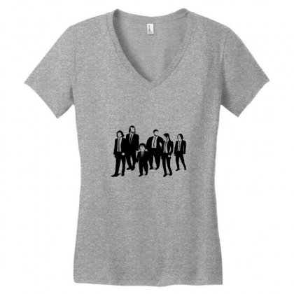 Team Of Game Of Thrones Illustration Women's V-neck T-shirt Designed By Pur